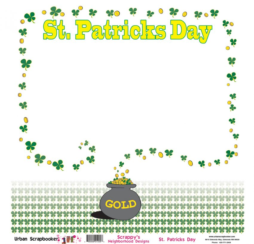St. Patrick's Day  Scrapbook Paper 12 x 12 inch
