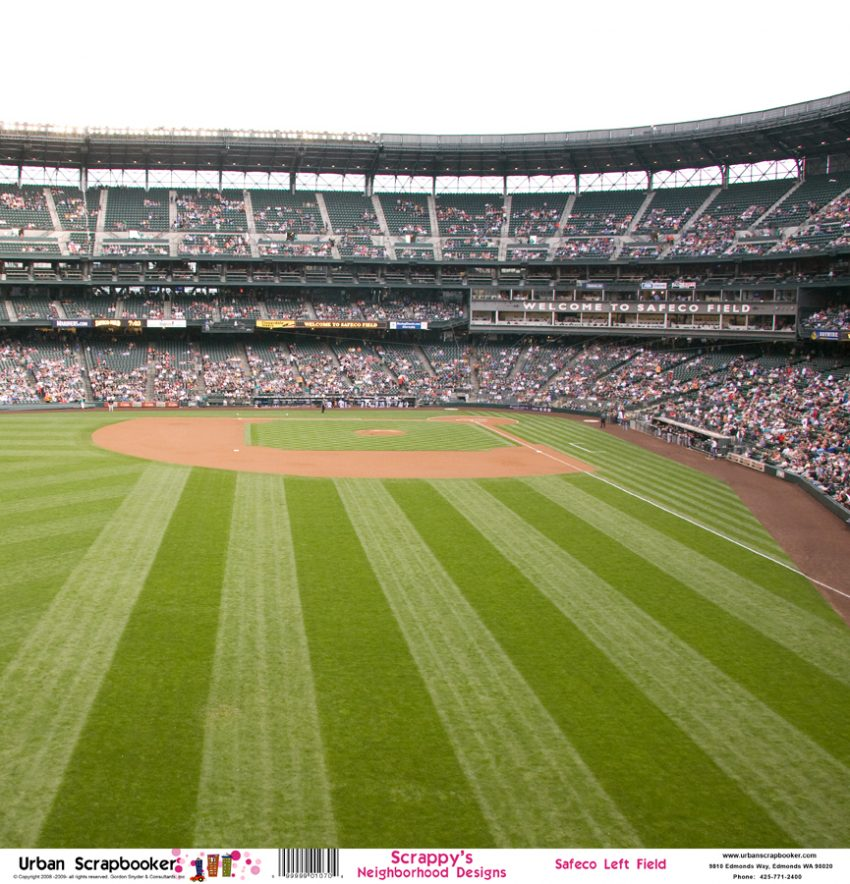 Seattle Mariners Safeco Left Field  Scrapbook Paper 12 x 12 inch