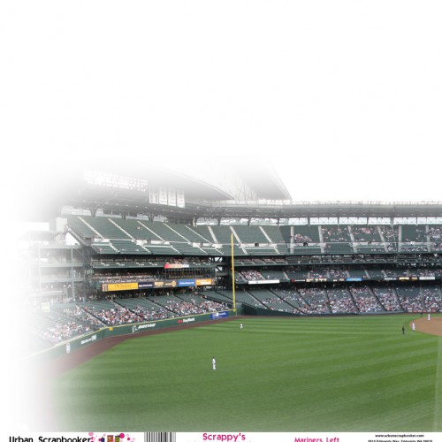 Seattle Mariners View Left Scrapbook Paper 12 x 12 inch