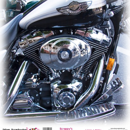 Harley Davidson Chrome and Motor  Scrapbook Paper 12 x 12 inch