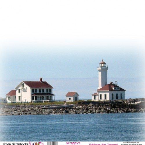 Lighthouse Port Townsend  Scrapbook Paper 12 x 12 inch