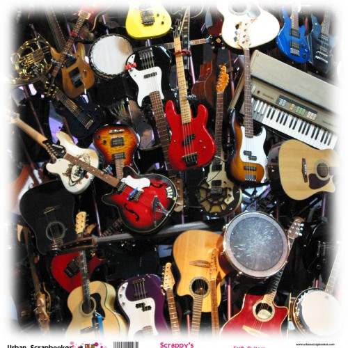 EMP Guitars  Scrapbook Paper 12 x 12 inch