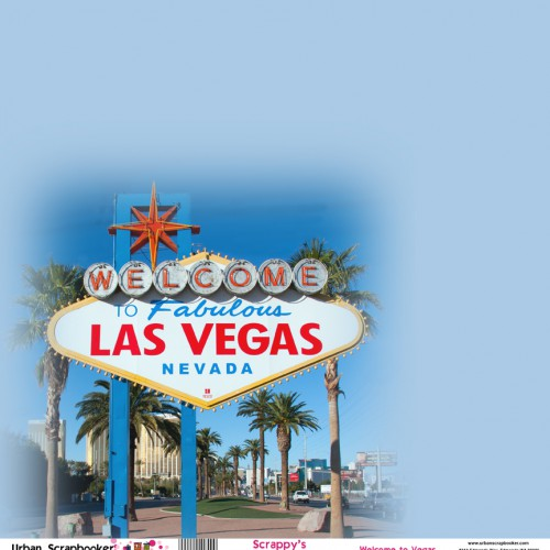Las Vegas Welcome Sign Scrapbook Paper 12 x 12 inch