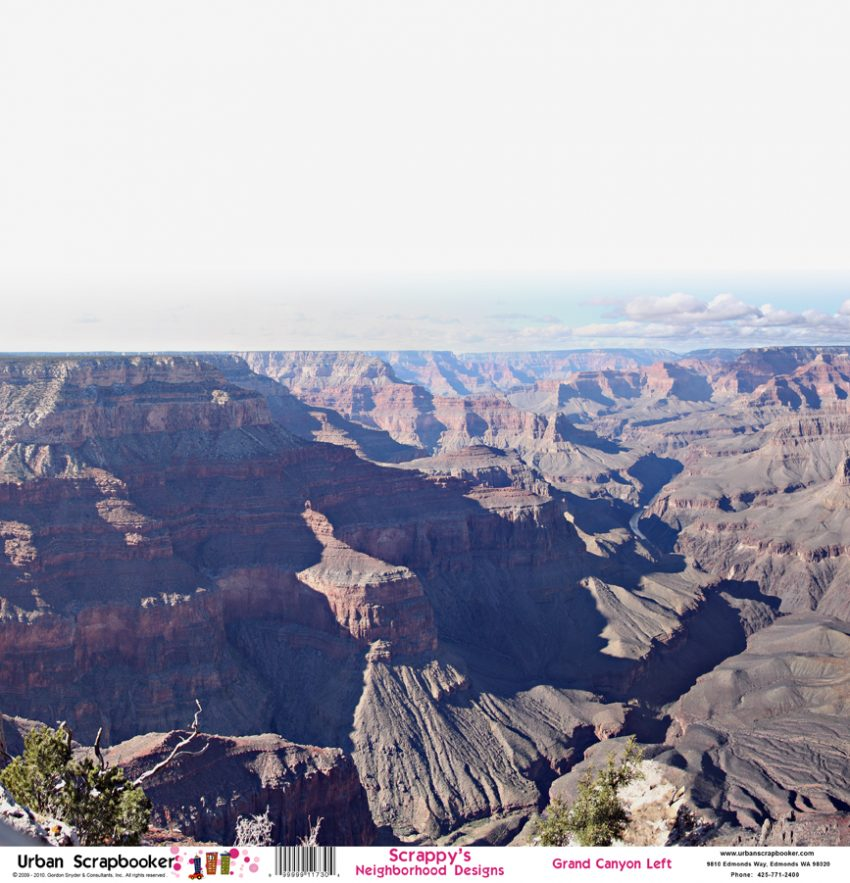 Grand Canyon View Left  Scrapbook Paper 12 x 12 inch